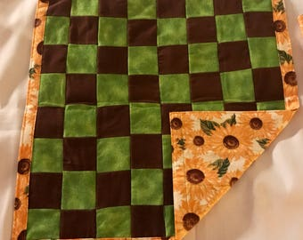 Handmade Checkerboard with bag- Sunflowers