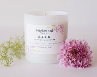 STARLIGHT PLUMERIA soy candle | floral candle | gift idea | aromatherapy | tropical candle