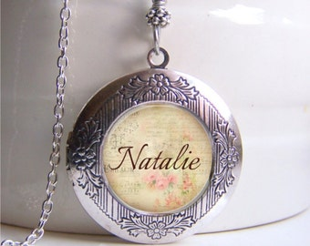 Personalized Locket Necklace, Name Necklace, Custom Name Jewelry, Photo Locket