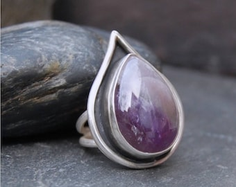 Handmade Amethyst and Sterling Silver Ring
