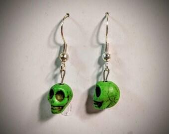 Colorful skull earrings