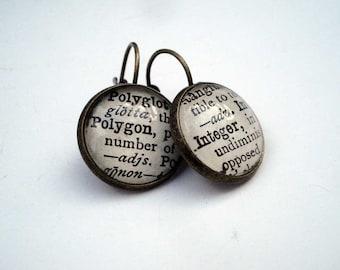 Math Earrings, Geekery, Ada Lovelace Day, Mathematics Jewellery