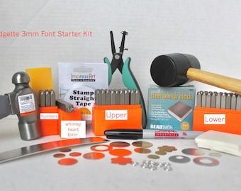 Metal Stamping Kit-Beginners Stamping Kit-Bridgette Impressart Font Set-Includes-Letter Sets Upper and Lower/Numbers