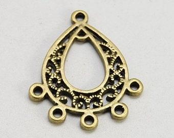 12pcs--Pendant, Antique Brass, 25X29mm (B11-4)