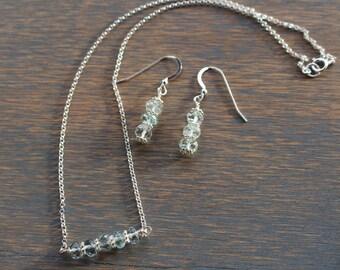 Aquamarine Necklace March Birthstone Necklace Aquamarine and silver necklace Gemstone Necklace Bead Necklace Aquamarine Jewelry, March Gift.