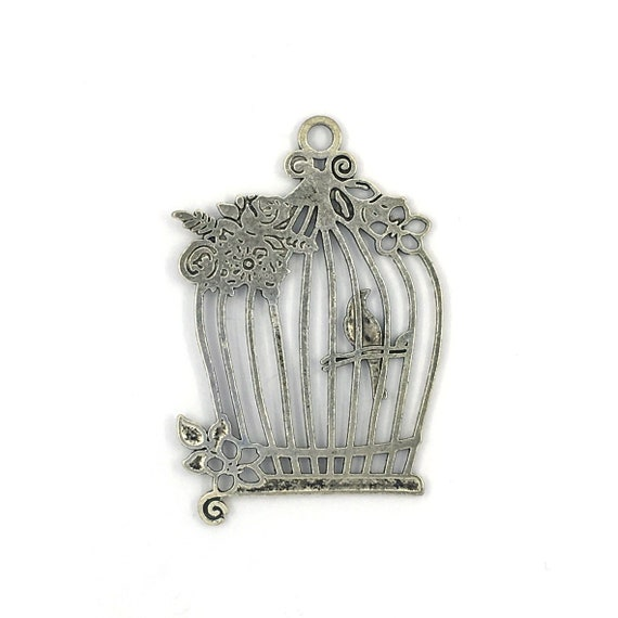"""Great charm - silver colored """"cage"""""""