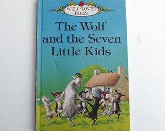 Vintage Ladybird Book - The Wolf and the Seven Little Kids - excellent vintage condition- children's story Book