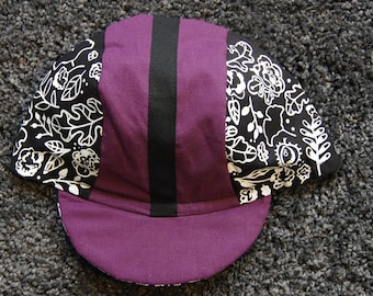 bikecap floral print purple