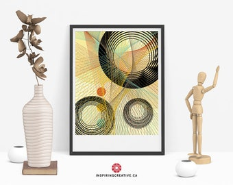 Stixy 3 – Mid Century Abstract Contemporary Modern Art Giclée Print