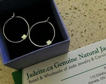 999 Fine Silver Hoop Earrings