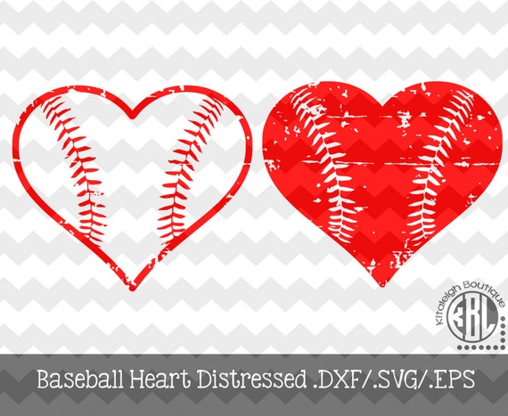 d40b4b90e18ff Baseball Heart Distressed Instant Download In Dxf svg eps For