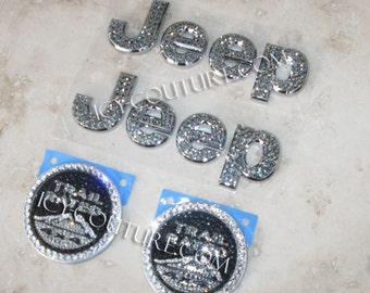 Crystal JEEP Emblems with Swarovski crystals