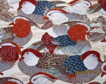 FABRIC DUCK BIRD Collage - Robert Kaufman - 1 Yard - KR13