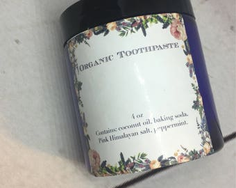 Toothpaste, organic toothpaste, natural toothpaste, whitening toothpaste, vegan toothpaste, homemade toothpaste, mothers  Day gift.