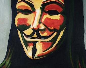 V for Vendetta A3 print of original artwork