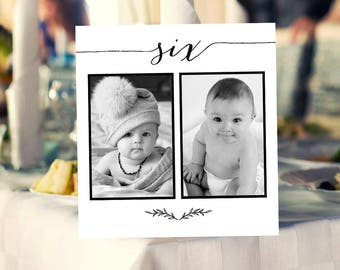 1-20 Personalized Photo Table Numbers Printable Numbers, Photo Table Number Cards Templates, Wedding Photo Cards Printable Templates