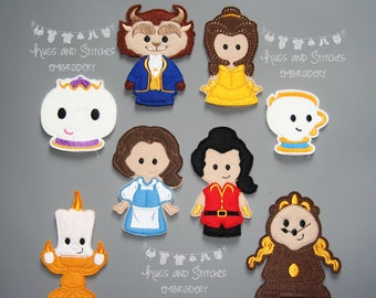 Beauty and the Beast inspired Finger Puppets