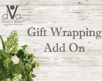 Gift Wrapping Add On to Your Purchase, Custom Gift Wrap , Wrap My Gift , Gift Wrapping Upgrade , Gift Wrapping Option , Wrapping and Note