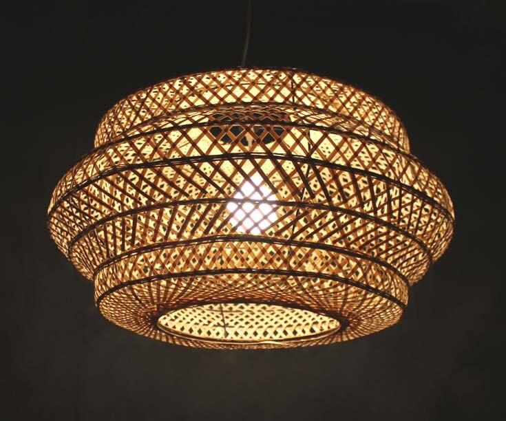 Attractive Natural bamboo Lampshade Fixture Bamboo Lighting-Pendant NH85
