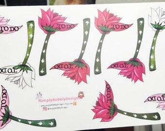 Planner Stickers - Flower Checklist Stickers