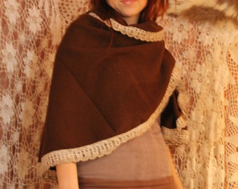 SALE Romantic wooden forest shawl.Before 45.NOW 25 dollar