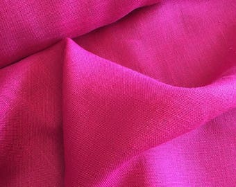 "Pink Burlap Fabric 60"" Wide Per Yard"