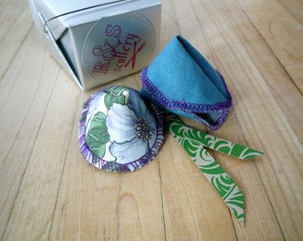 Fabric Fortune Cookies - Gift Set, Turquoise, Green, Floral, Love Notes, Unique Valentine, Gluten Free, Customizable, Gourmet, Ready to Ship