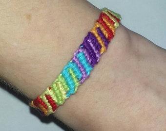 Candy Stripes friendship bracelet