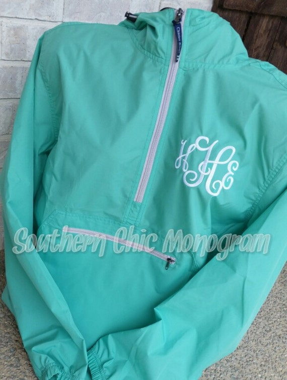 Personalized Monogrammed Charles River Pack-N-Go light weight rain jacket windbreaker Bridesmaid Gift Graduation gift greek sorority ylIOp1lh