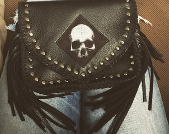 Studded Skull Moto Crossbody + Belt Bag + Hip Pouch