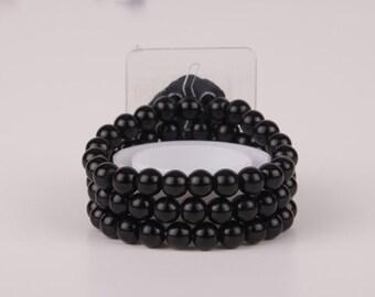 Corsage Bracelet - Delicate Flower - Midnigth (For Smaller Wrists)