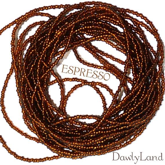 Waist Beads ~Espresso ~ YourWaistBeads.com