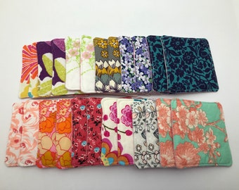 Floral Fabric Memory Squares with Pouch