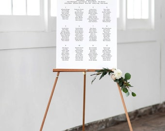 Modern Seating Chart |  Seating Chart | Reception | Wedding Seating | Printable Seating Chart
