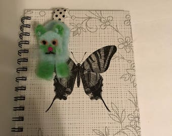 Felted kitty bookmark