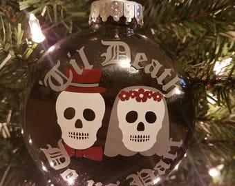 Till Death Do Us Part Wedding Ornament (Goth)