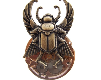 Steampunk scarab brooch