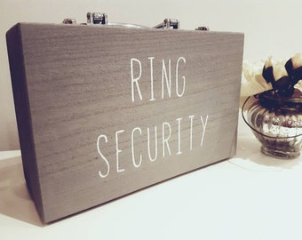 Ring Security Briefcase, 8 Custom Colours! Child's Ring Security Case,  Personalised Wedding Ring Box, Security Case, Wedding Ring Cushion