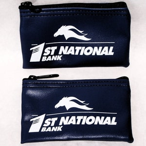 2 First National Bank Texas Bank Bags YKK Zippers Brand New