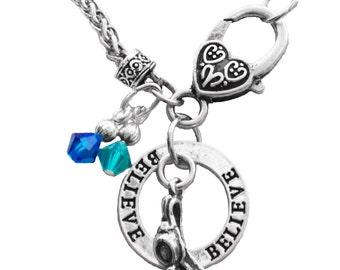 Personalized,Syncho,Swim,Dive Necklace,Team Color,Synchro Jewelry,Swim Gift,Synchro Coach,Team Gift,Dive Gift,Swim Necklace,(Made to Order)