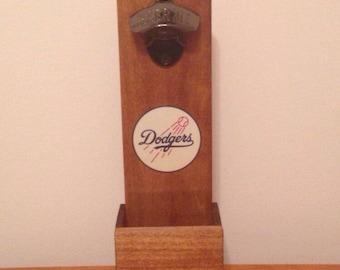 Wall Mounted Bottle Opener - Los Angelos Dodgers