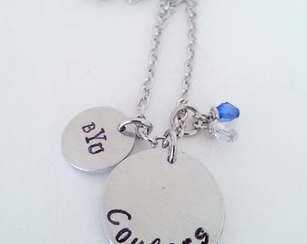 BYU Cougars College Football Hand Stamped Necklace