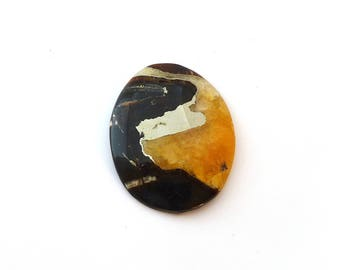 Simbercite or Simbircite Pyrite Agate Designer Cabochon 41.0x52.3x7.9 mm 128.5 carats Free Shipping
