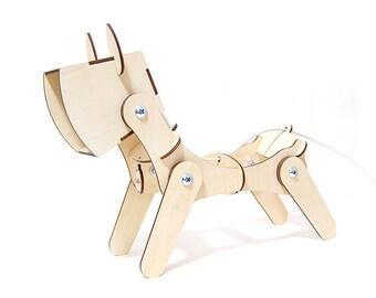 Desktop Hölzerne Lampe Mit Namen Medaillon Hund Home Decor Holz Lampe  Tischleuchte Geschenk Für Kinder