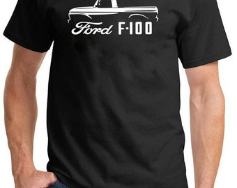 1961-66 Ford F-100 Pickup Truck Classic Outline Design Tshirt