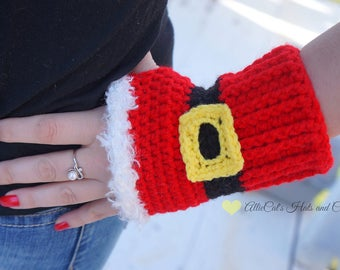 Crochet Pattern- Holiday Cheer Mitts