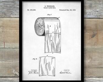 Patent Print, Toilet Paper Art, Bathroom Art, Bathroom Wall Art, Bathroom Decor, Bathroom Poster, Bathroom Sign, Restroom Decor P149