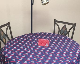 University of Arizona Table Cloth. FREE SHIPPING. Great for Graduation or Office Parties!  Durable Cotton/Polyester Blend.