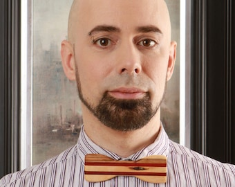 Bow tie with exotic wood, Ambrosia, and Padauk