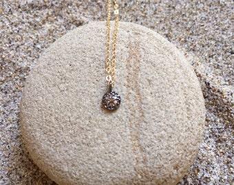 Pave Diamond Sterling Silver sm Circle Pendant